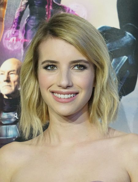 Emma Roberts - I really like the texture for this, probably not ideal for my hair but for fine or medium textured hair it's quite cute.