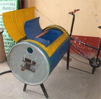 pedal powered washing machine--wash clothes while you work out!