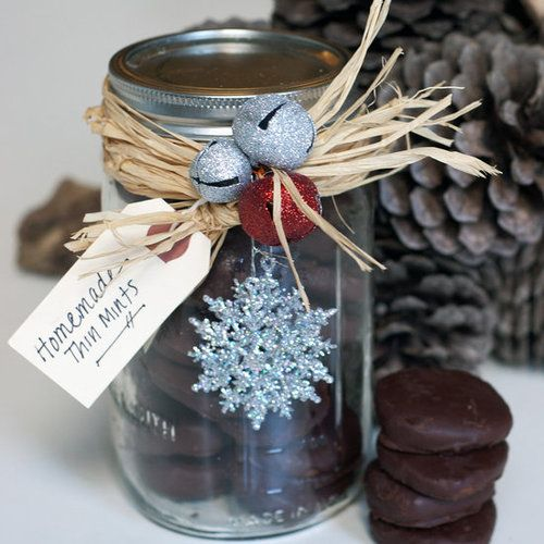 This year, gift your friends with an early taste of this magical time of the year: a homemade take on Thin Mints. This recipe for DIY Thin Mints is just as tasty as the packaged version, and they're a cinch to whip up. Package them in a mason jar with pretty, wintry details or in a cellophane bag, tied with a big bow.