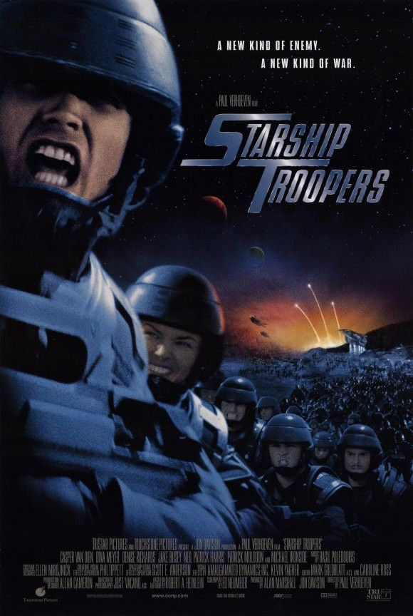 CAST: Casper Van Dien, Dina Meyer, Denise Richards, Jake Busey, Neil Patrick Harris, Clancy Brown, Michael Ironside, Rue McClanahan, Seth Gilliam, Patrick Muldoon; DIRECTED BY: Paul Verhoeven; Feature