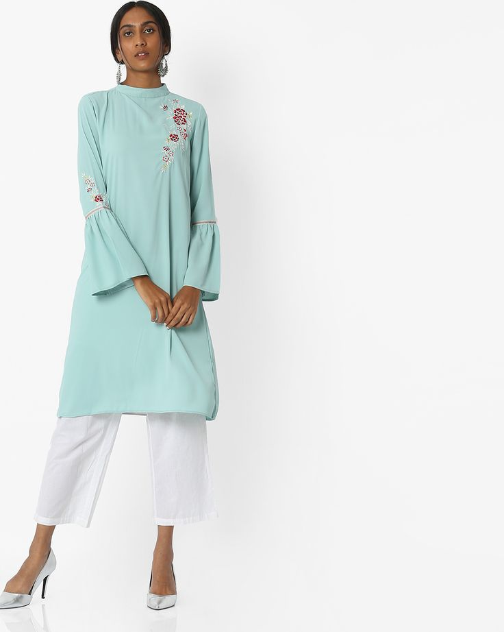 High Neck Kurti Patterns