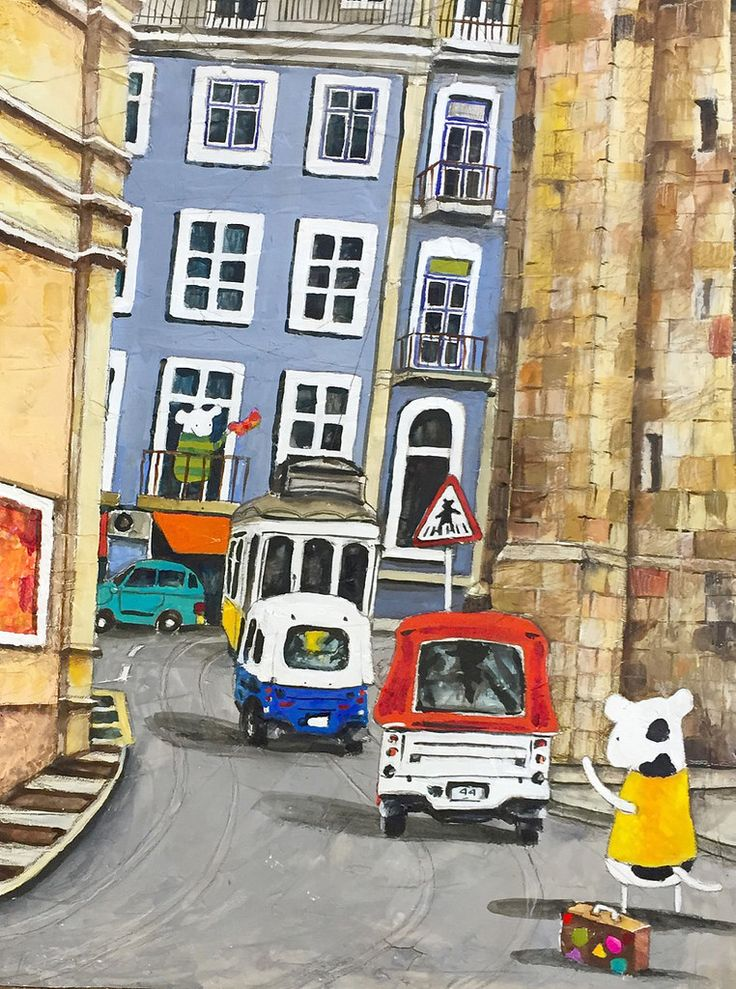 https://flic.kr/p/A83mH6 | Lisboa Old Town | Mixed media on Arches watercolour paper