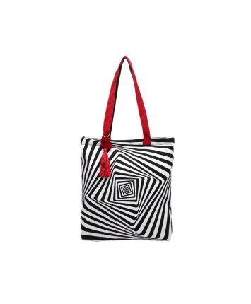 Monochrome Casual Tote Bag  #ohnineone