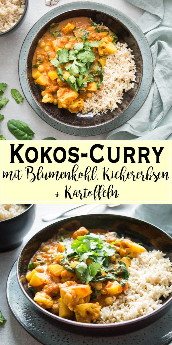 Blumenkohl-Kartoffel-Curry mit Kichererbsen