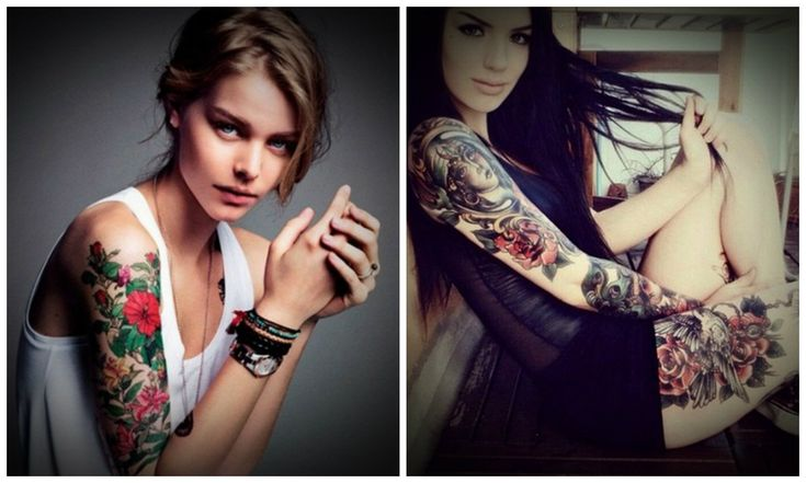 Are you also interested in bold fashion trends? Then look at these excellent flowers tattoos, these arm flower tattoos are in bright colors and ...