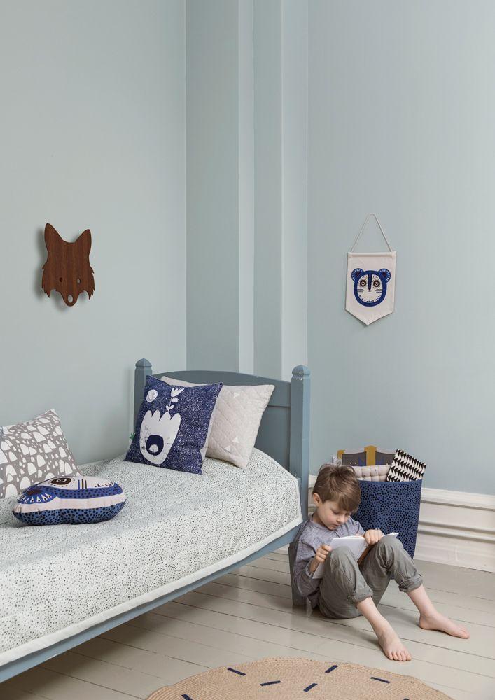 Blauwe kinderkamer met zachte kussens - bekijk en koop de producten van dit beeld op shopinstijl.nl