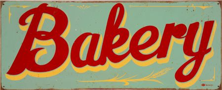 ...and yet another vintage bakery sign