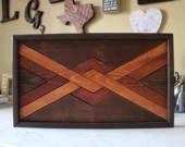 Moderne houten kunst hout Wall Art, geometrische houten kunst, teruggewonnen hout Wall Art, huwelijksgeschenken, rustieke Home Decor, boerderij Decor, rustieke Wall Art