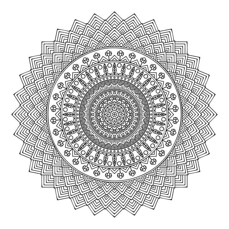 513 best mandala images on Pinterest | Coloring pages, Mandala ...