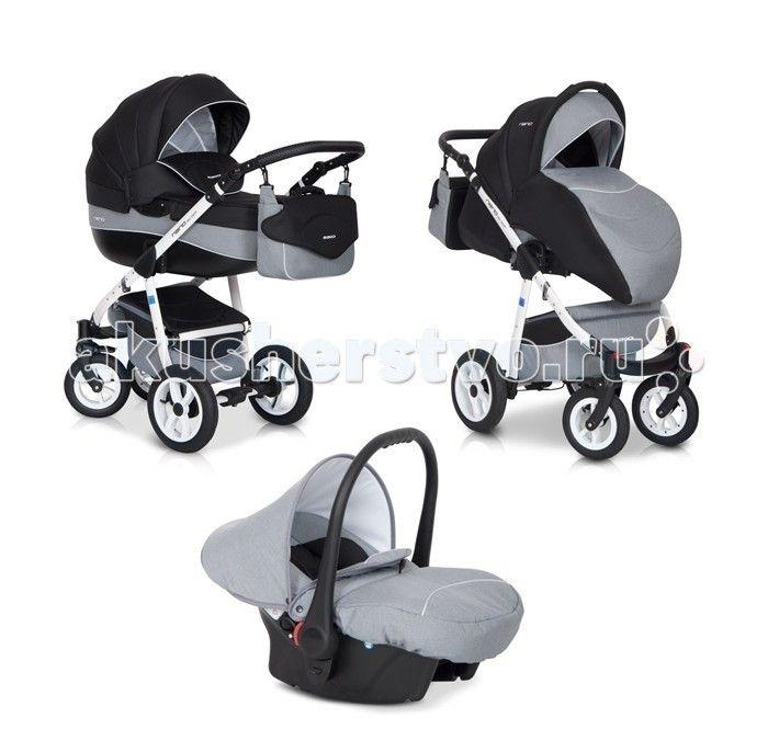 Коляска Riko Nano 3 в 1  Коляска Riko Nano 3 в 1. Элегантная коляска с неповторимым дизайном для детей от рождения до 3-х лет. Многофункциональная транспортная система, обеспечивающая комфорт и безопасность на прогулках с Вашим ребенком.  Детская универсальная коляска изготовлена с использованием высококачественных легких дышащих текстильных материалов, имеет небольшой вес и отличную маневренность на дороге.  Люлька Riko: Просторная пластиковая люлька Обивка и матрасик выполнены из 100%…