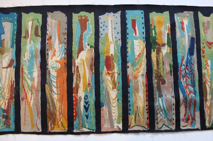 John Piper Arundel 1960 vintage fabric Sanderson Centenary - 14 full kings