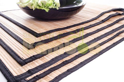 Bamboo placemats are perfect for your dining table, easy to clean & use! Get $3 off when you use this code 7US52AXX #BlackFriday
