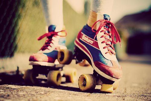Retro retro retro vintage Skates