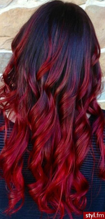 ❤  dark to dark red....i love this...but am sick of my long hair