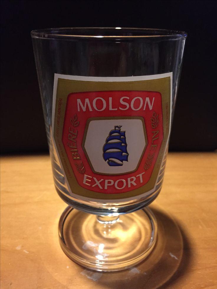 Molson Export  Beer Glass
