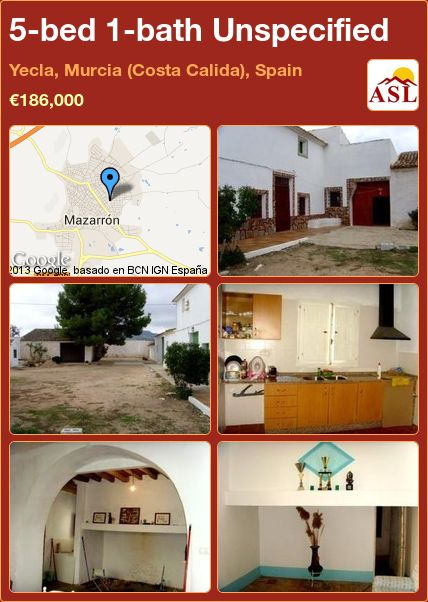 5-bed 1-bath Unspecified in Yecla, Murcia (Costa Calida), Spain ►€186,000 #PropertyForSaleInSpain