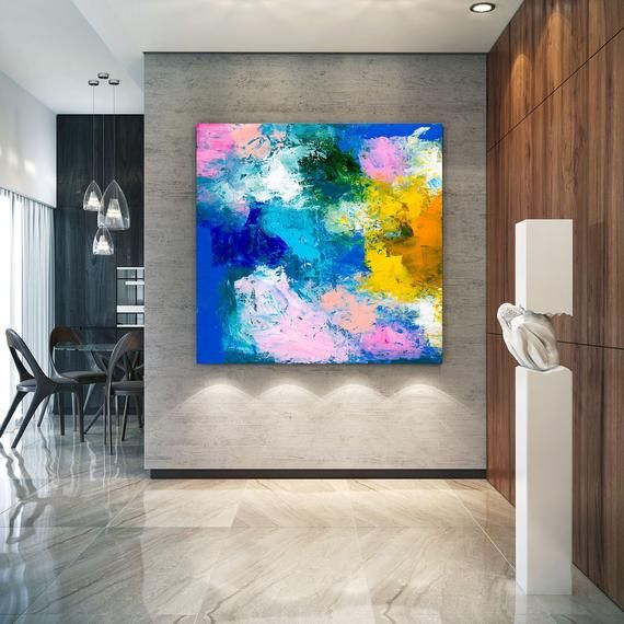 Pink Blue Extra Large Wall Art Abstract Painting On Canvas Etsy Large Abstract Wall Art Modern Abstract Painting Large Abstract Painting