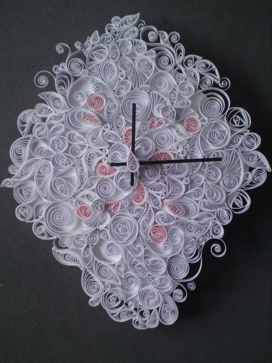 152 best images about Quilling ClocksWatches
