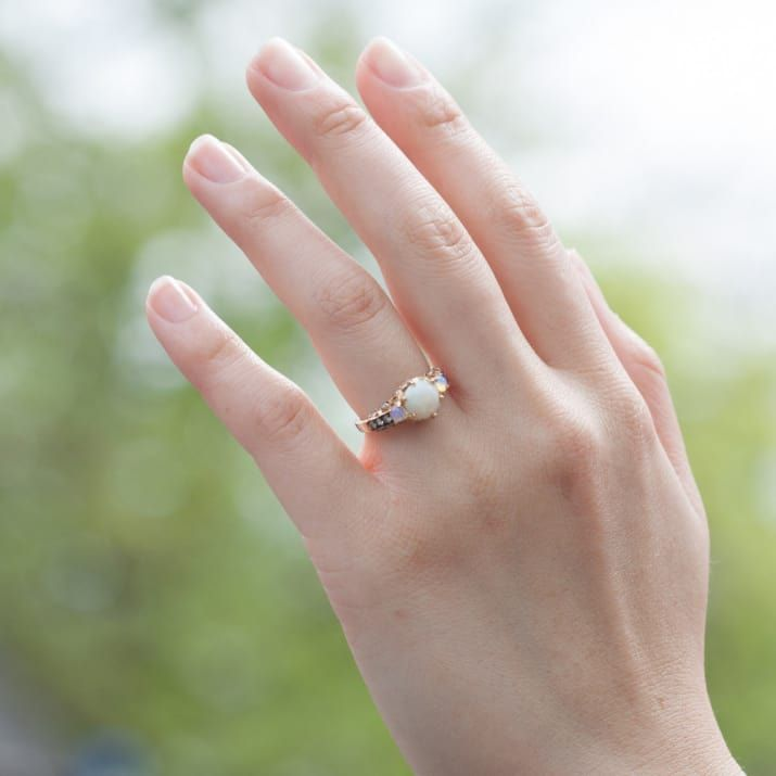 Opal engagement ring ♥