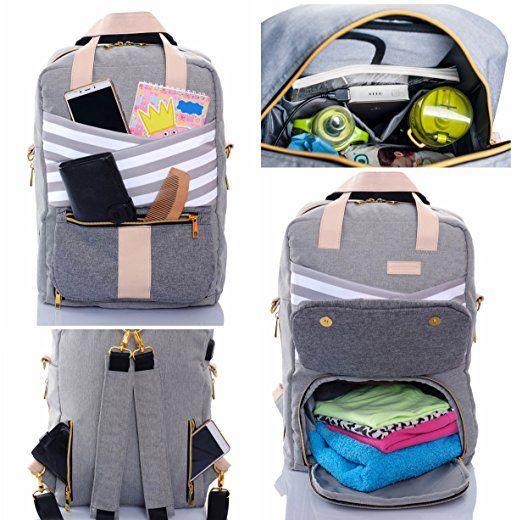 9f0743fa3270 Amazon.com : Baby Diaper Bag Backpack Slonser Large Designer Multi ...