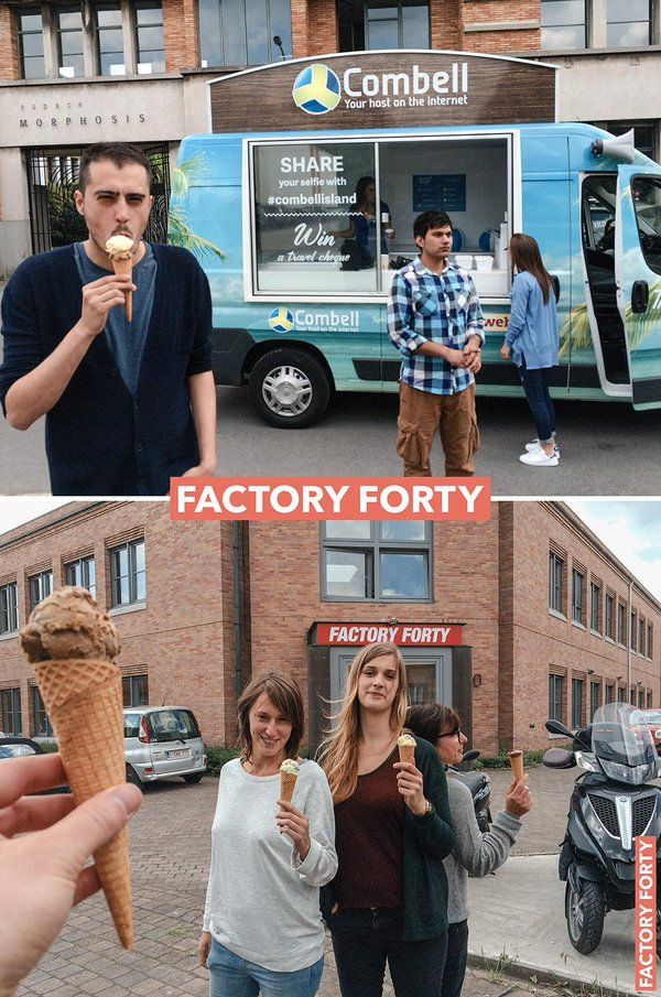 Super cool #IceCream delivery at @FactoryForty today! Hello summer ;-) Thx @Mountainview_be #coworking #combellislandCoworking : https://www.factoryforty.be/fr/espace-coworking-bruxelles/ Réunions & évènements : https://www.factoryforty.be/fr/evenement-salle-reunion-bruxelles/