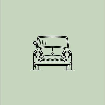 Cette illustration représente bien l'espace par sa composition simple tout en ayant des couleurs intérressantes et en limitant les objets autour de la voiture