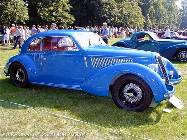 1938 Alfa Romeo 6C 2300 Mille Miglia Berlinetta Touring