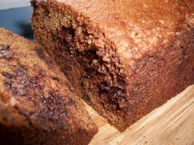 Chocolate Chip Banana Bread-  I subbed applesauce for oil and whole wheat flour and made into muffins cooked for about 18 min. Very good!
