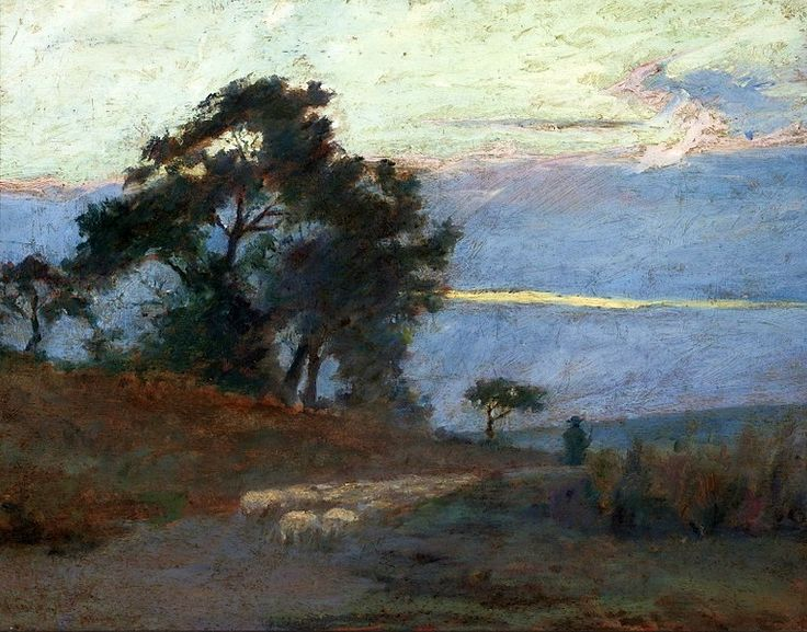 Maksymilian Gierymski - Landscape at sunrise, 1869