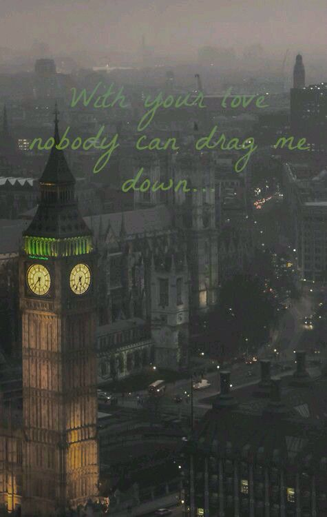 Something that I made One direction Drag me down song lyrics with photo from…