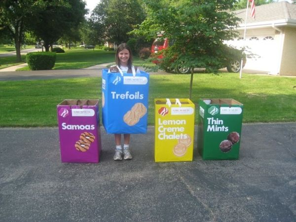 For the Parade, my Brownies dressed as Girl Scout Cookie Boxes. SO CUTE! Booth? by WattsDaisy