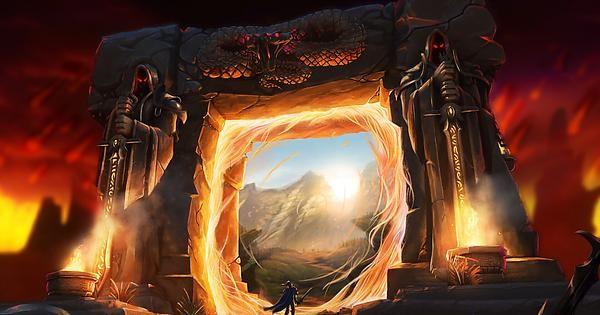 Through The Dark Portal By Adam Torn Wow World Of Warcraft Wallpaper Warcraft Fantasy Landscape World of warcraft wallpaper engine