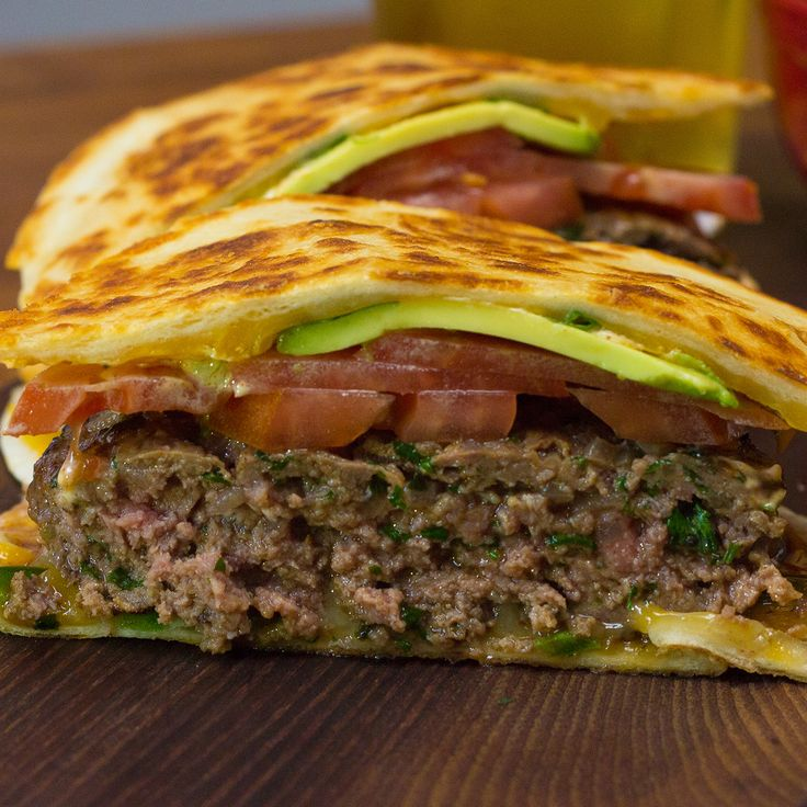 Ever wondered what it would taste like if you brought together hamburgers and quesadillas? Wonder no more and ...