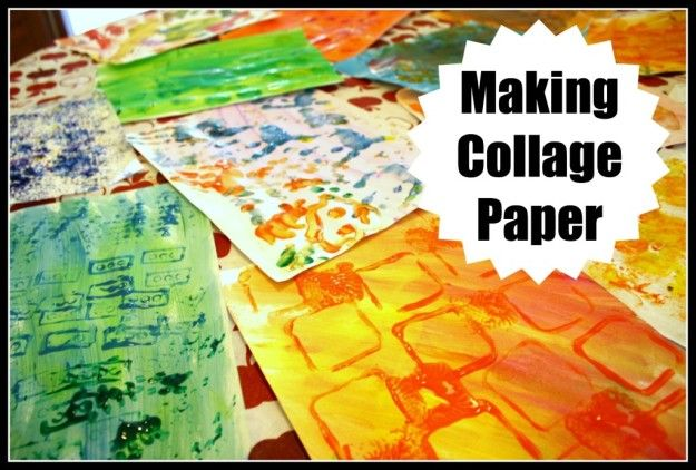 Making collage art with toddlers and young children
