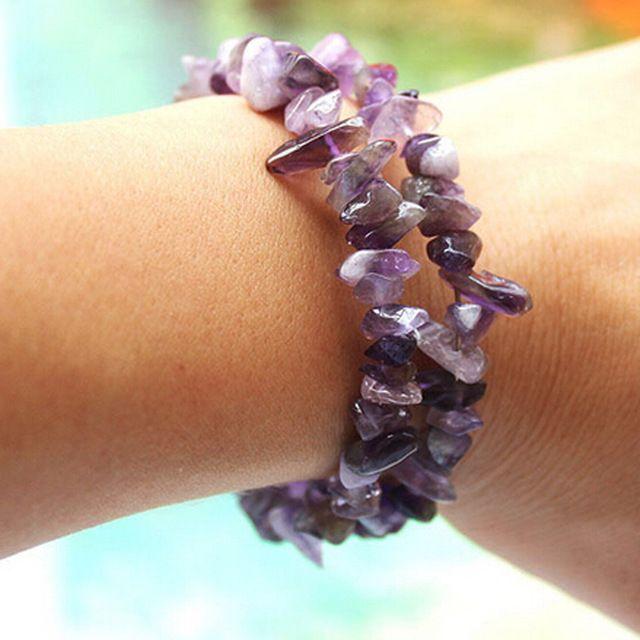 #Bracelet Printemps/été - #Amethyst Pierre Naturelle pour femmes