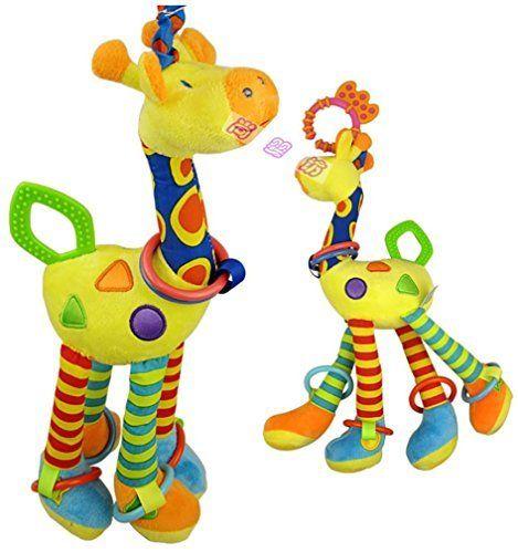 Reizbaby Giraffe Baby Plush Toy,Bed Grib Hanging Bell with Teether. #Reizbaby #Giraffe #Baby #Plush #Toy,Bed #Grib #Hanging #Bell #with #Teether