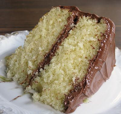 Food for A Hungry Soul: Old Fashioned Butter Cake with Chocolate Icing