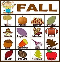 Great #Play idea for Fall - Fall Bingo! #kids #games #fun