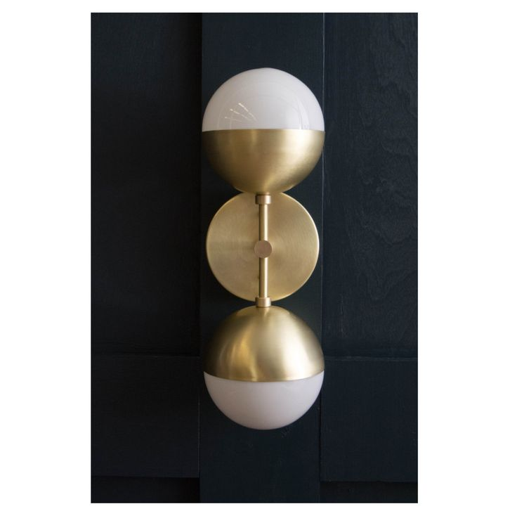 Brass Orb Sconce *Ready to ship in brass by LucentLightshop on Etsy https://www.etsy.com/listing/237691980/brass-orb-sconce-ready-to-ship-in-brass