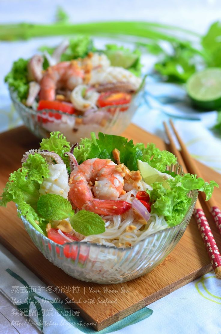 ... Thai Glass Noodles Salad with Seafood | Yum Woon Sen