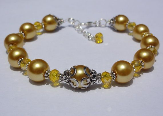 Wedding Jewelry-Bracelet Bridesmaid by StunningGemsJewelry on Etsy