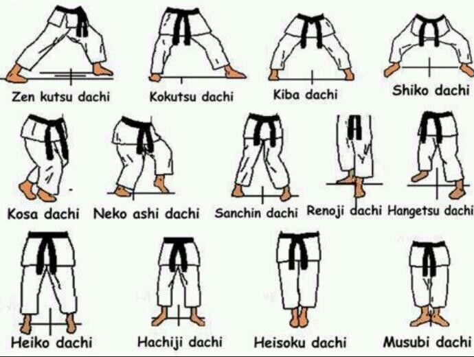 karate diagrams stances