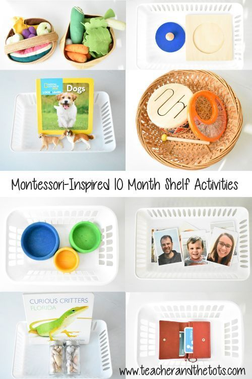 Montessori-Inspired Shelf Activities at 10 Months