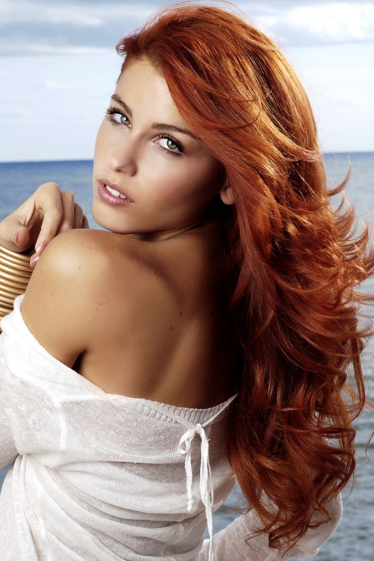 Great Lengths Hair Extensions Beautiful Redhead Model