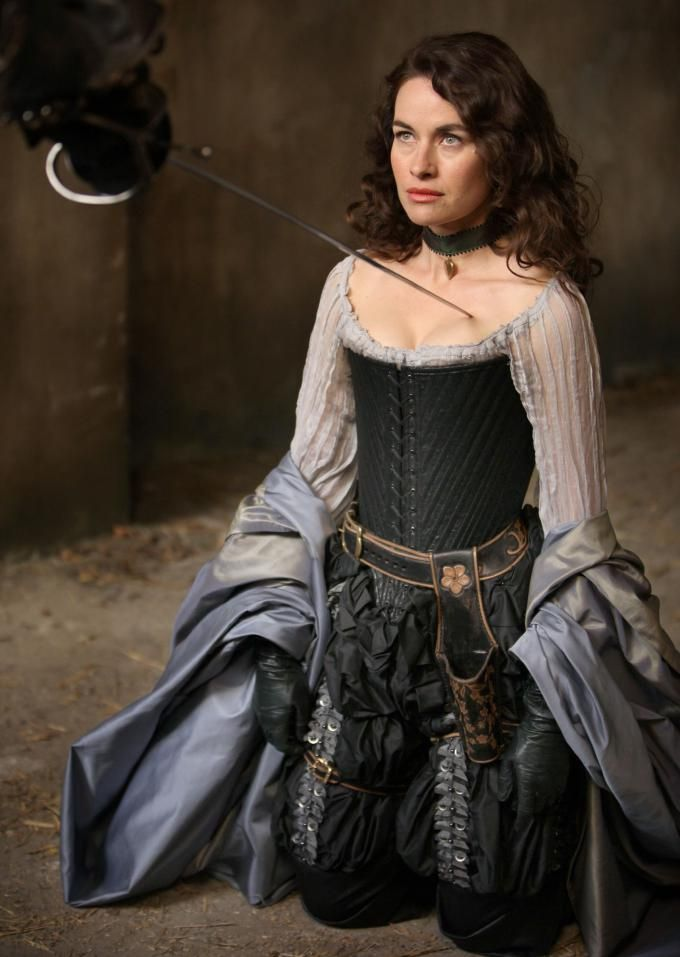 Milady de Winter - Maimie McCoy in The Musketeers, set in the 1630s (BBC TV series).