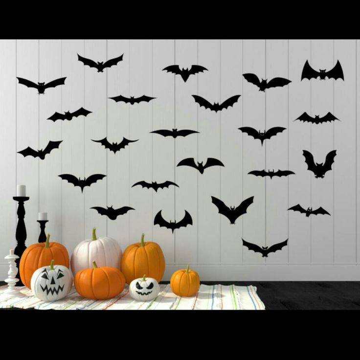 24 removable Bat vinyl wall decals perfect for Halloween starting at $4.99. Use code   & 23 best Halloween Wall Decals images on Pinterest   Wall decal Wall ...