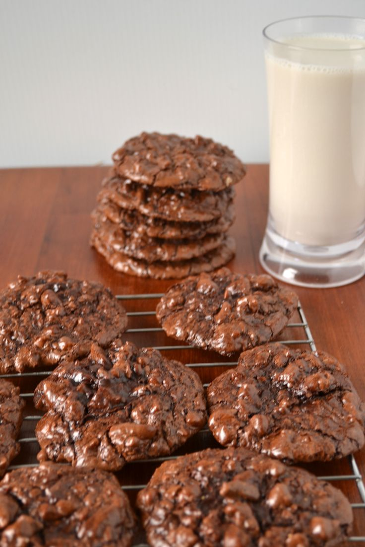 Chocolate Puddle Cookies | Recipe | Flourless chocolate, Chocolate ...