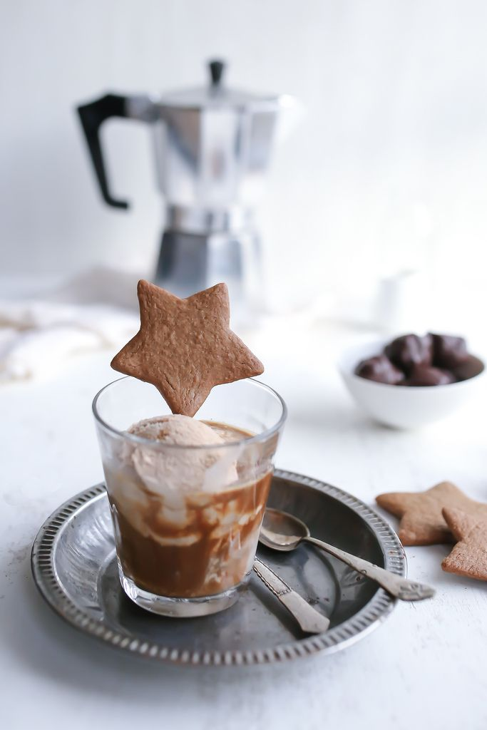 gingerbread ice cream affogato ♥
