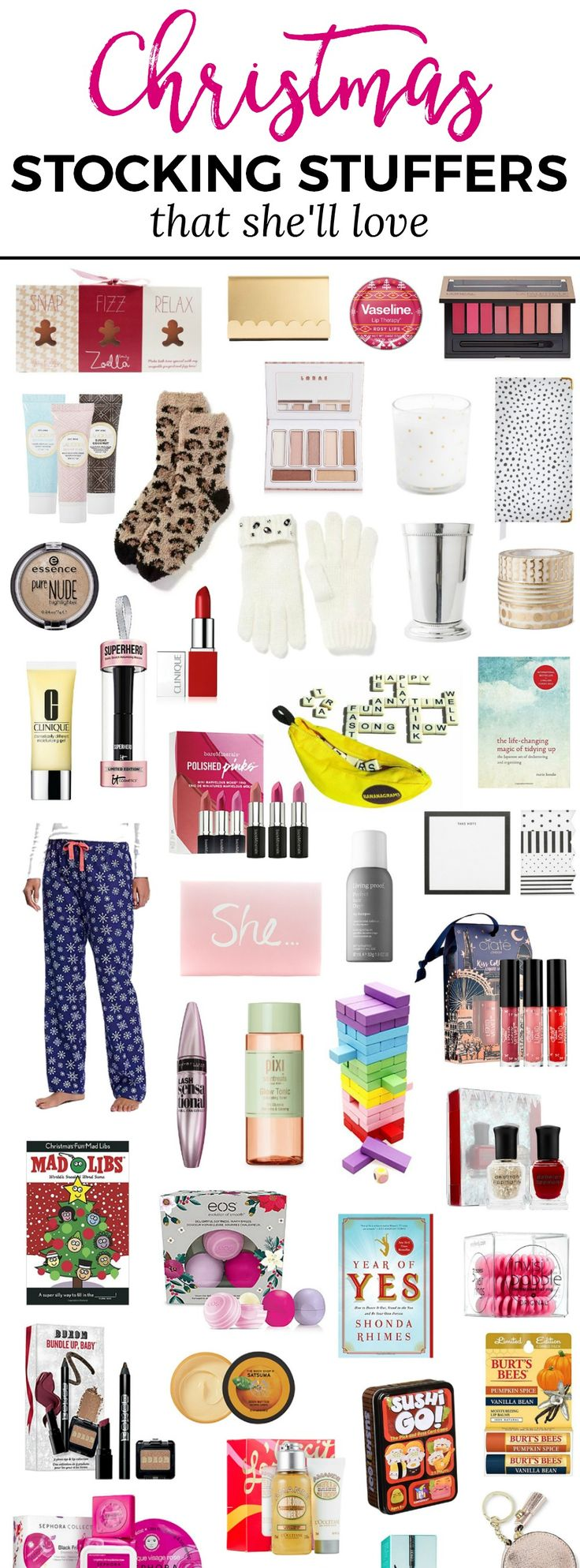 The best Christmas stocking stuffers for women! You won't want to miss this adorable Christmas gift guide for women created by Florida beauty and fashion blogger Ashley Brooke Nicholas. She's guaranteed to love every affordable Christmas gift idea on this list! Stocking stuffers, gift ideas, Christmas gifts, gifts for women, stocking fillers