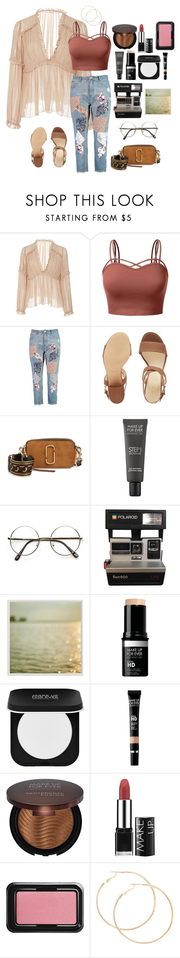 """Untitled #469"" by nuymar ❤ liked on Polyvore featuring Ulla Johnson, J.TOMSON, Boohoo, Nine West, Marc Jacobs, MAKE UP FOR EVER and Pottery Barn"
